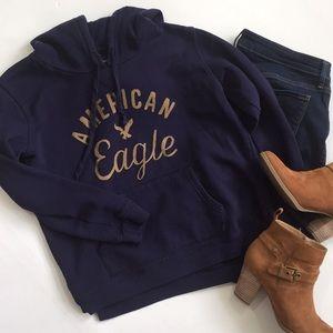 American Eagle Navy Blue Hoodie